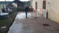 Lavage du béton